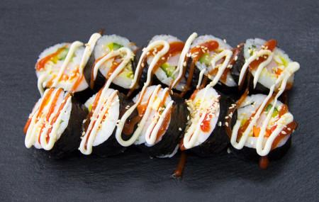 Кимпаб с крабовой палочкой (10 кусочков)